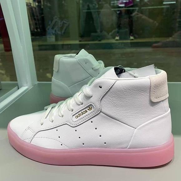 Adidas Originals Sleek Mid White Pink
